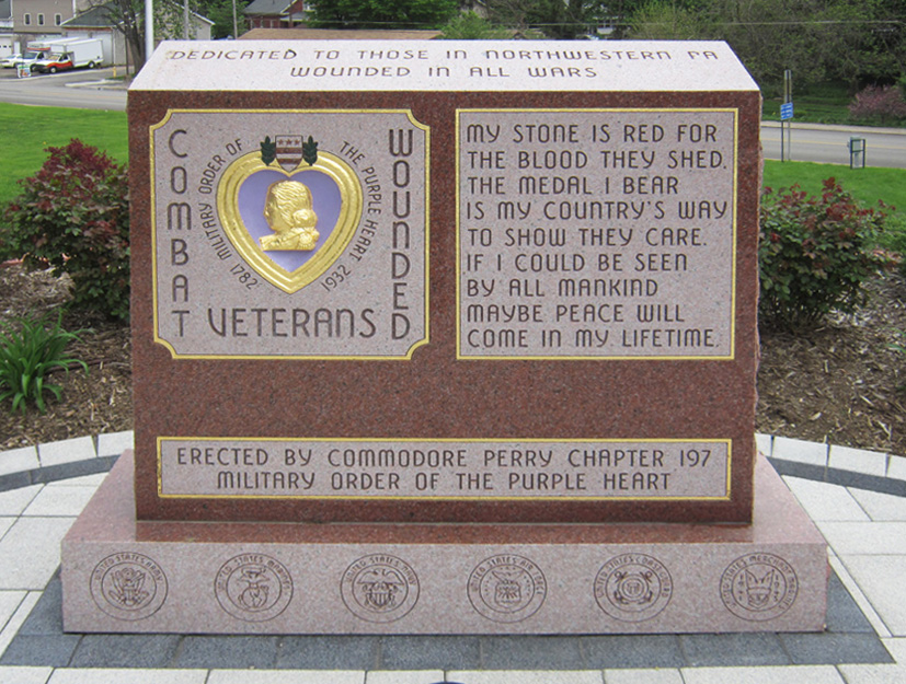 Purple Heart monument 2