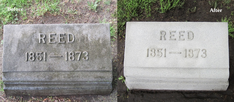 before after headstone